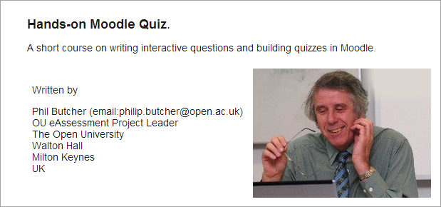 Hands-on Moodle Quiz